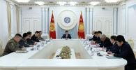 Президент Кыргызской Республики Сооронбай Жээнбеков провел рабочее совещание по ситуации на границе. 13 января 2020 года