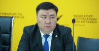 Глава Управления землепользования и строительства мэрии Талант Иманакун уулу на пресс-конференции в мультимедийном пресс-центре Sputnik Кыргызстан