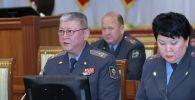Заместитель министра внутренних дел КР Памир Асанов на заседании ЖК