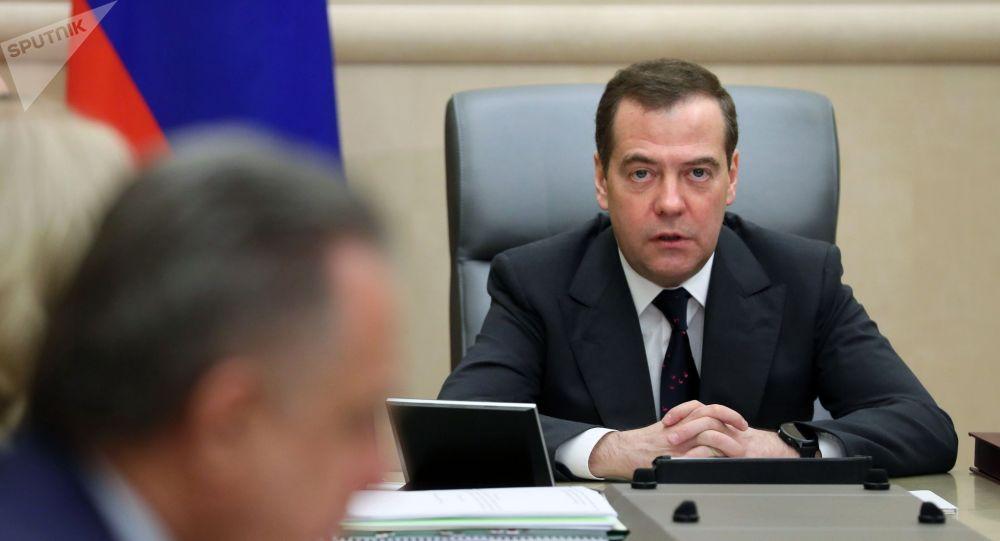Архивное фото председателя правительства РФ Дмитрия Медведева