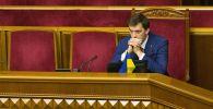 Архивное фото премьер-министра Украины Алексея Гончарука на заседании Верховной рады Украины