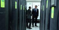 Президент Кыргызской Республики Сооронбай Жээнбеков посетил Национальный банк Кыргызской Республики (НБКР)