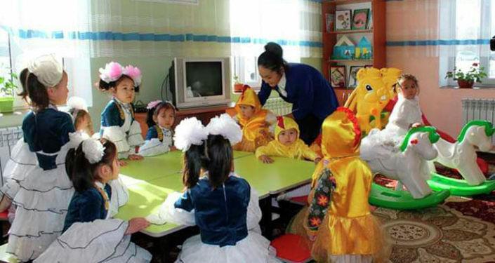 Открытие детского сада в селе Прогресс Узгенсого района Ошской области