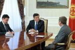 Президент Сооронбай Жээнбеков Афганистандын Кыргызстандагы элчиси Мохаммад Исса Месбахты дипломатиялык миссиясынын аякташына байланыштуу кабыл алды