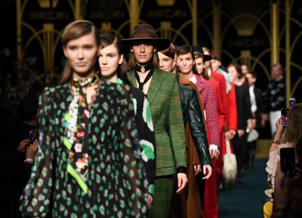 Показ коллекции Marc Cain на Берлинской неделе моды