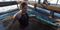 В селе Новопокровка Чуйской области провели традиционные купания в день Крещения Господня (Богоявления).
