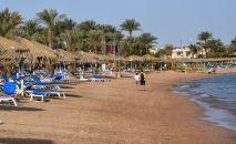 Отдыхающие на пляже в Шарм-эль-Шейхе. Архивное фото