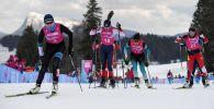 Участницы соревновании по лыжным гонкам на III зимних юношеских Олимпийских играх 2020 в швейцарской Лозанне. Архивное фото