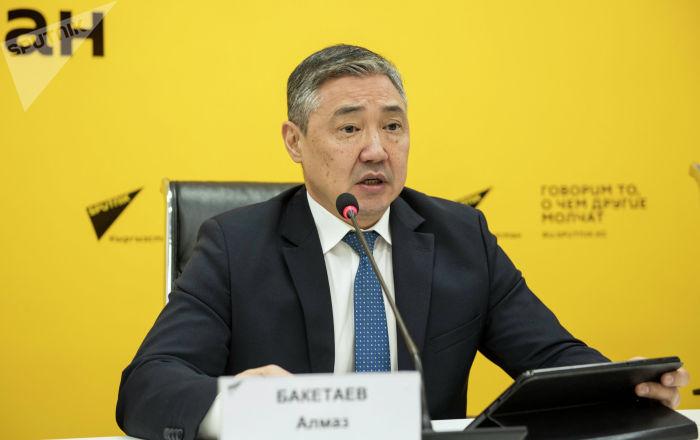 Первый вице-мэр Бишкека по экономической и финансовой политике Алмаз Бакетаев