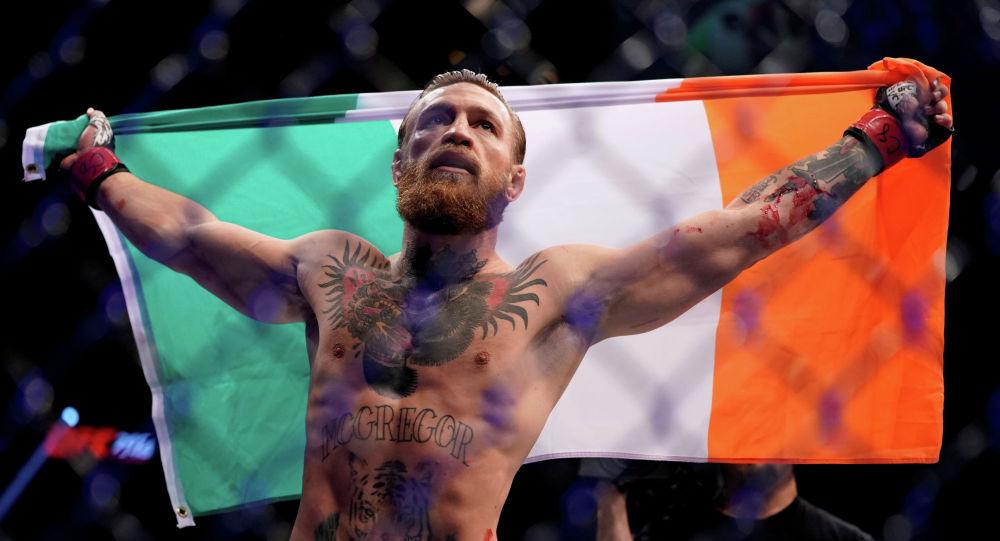 Ирландиялык спортчу, UFC уюмунун мушкери Конор Макгрегор. Архив