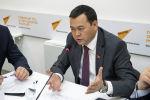 Вице-спикер Жогорку Кенеша Мирлан Бакиров в мультимедийном пресс-центре Sputnik Кыргызстан.