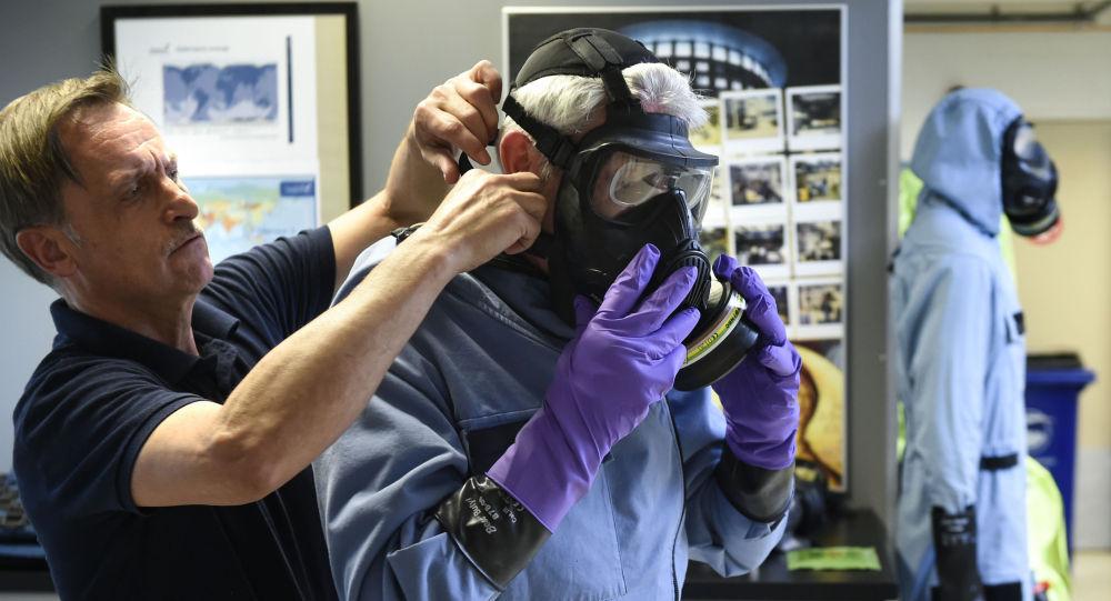 Химиялык курал колдонууга тыюу салуу уюмунун  кызматкери Гаагада. Архивдик сүрөт