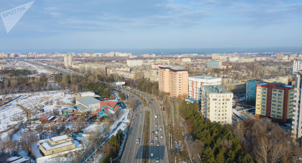 Вид Бишкека с дрона. Архивное фото