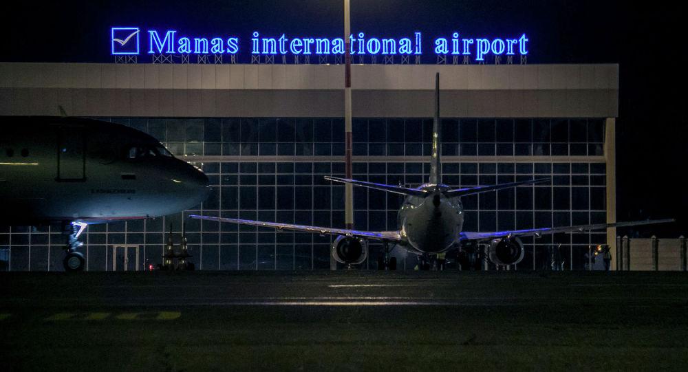 Самолеты в международном аэропорту Манас. Архивное фотоой области