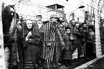 Узники Освенцима перед освобождением лагеря Советской Армией, январь 1945 года.