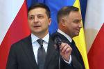 Украина президенти Владимир Зеленский жана Польша президенти Анджей Дуда. Архивдик сүрөт