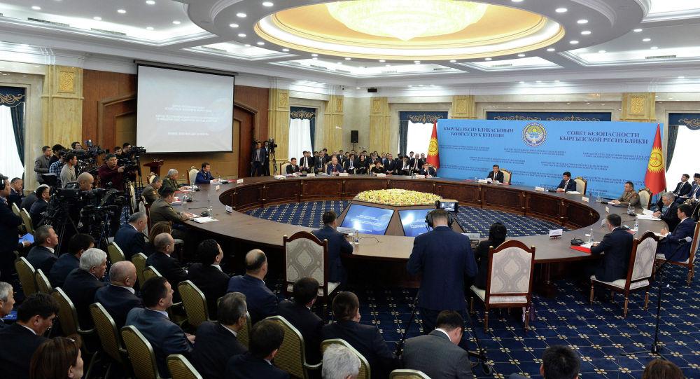 Президент Кыргызской Республики Сооронбай Жээнбеков на очередном заседании Совета безопасности Кыргызской Республики. 24 января 2020 года