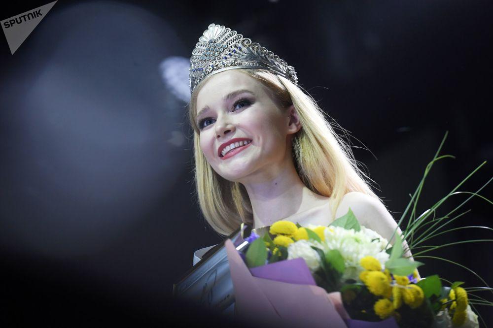 Победительница конкурса Мисс Татарстан 2020 Анна Семеновых на награждении