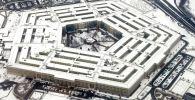 Вид с высоты на здание Пентагона (Министерству обороны США) в Вашингтоне. Архивное фото