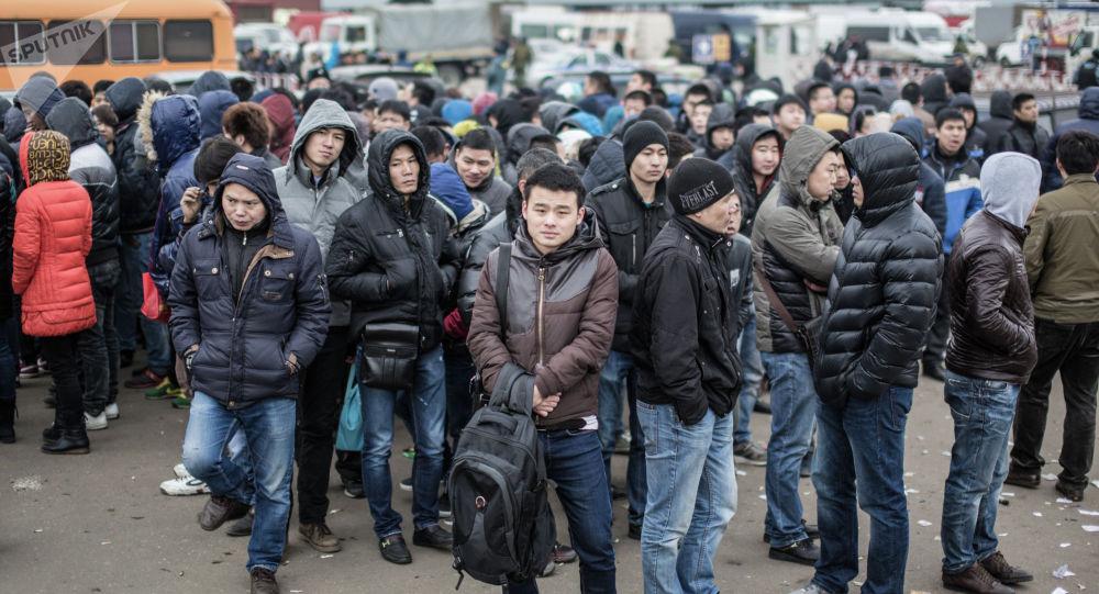 Россияда иштеген мигранттар. Архивдик сүрөт