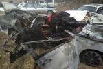 Последствия ДТП с участием машины марки Lexus ES 300 в селе Мырзаке. Архивное фото
