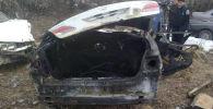 Последствия ДТП с участием машины марки Lexus ES 300 в селе Мырзаке