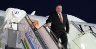 Государственный секретарь США Майк Помпео прибывает с визитом в Ташкент. 2 февраля 2020 года