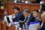 Премьер-министр КР Мухаммедкалый Абылгазиев на итоговом выступлении на заседании Жогорку Кенеша