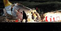 Түркиянын Стамбул шаарында Pegasus компаниясынын учагы конуп жатып кырсыкка учурады