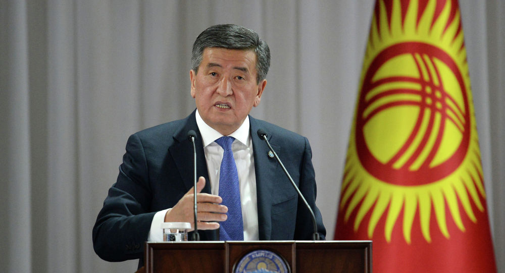 Президент Сооронбай Жээнбеков Ысык-Ата районунун жашоочулары менен жолугушуу учурунда