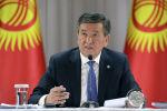 Президент Кыргызской Республики Сооронбай Жээнбеков на встрече с жителями Ысык-Атинского района во время однодневной рабочей поездки