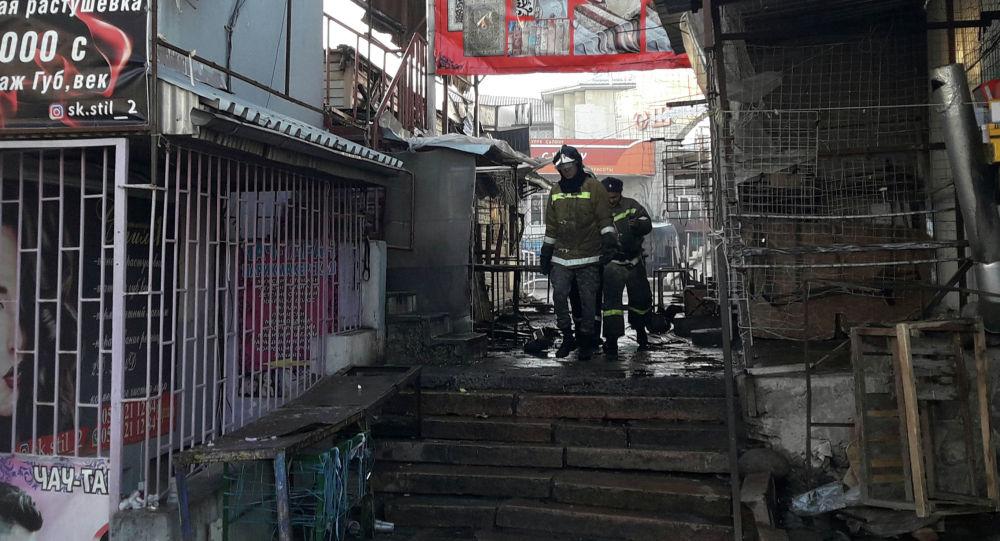 Бишкектеги Ош базарында кайрадан өрт чыкты