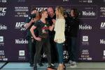 Кыргызстандык спортчу, UFC уюмунун эң жеңил салмактагы (57 кг) чемпиону Валентина Шевченко америкалык Кетлин Чукагян менен көз караштар таймашын өткөрдү.