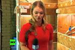 Маленькая змея едва не прервала репортаж австралийской журналистки для местного телеканала Nine Network.