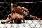 Доминго Пиларте (США) во время боя с Джурни Ньюсон (США) на UFC 247 в Хьюстоне. 8 февраля 2020 года