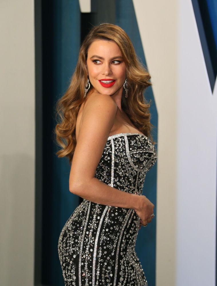 Актриса София Вергара на 2020 Vanity Fair Oscar Party. 9 февраля 2020 года