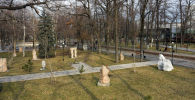 Памятники в Дубовом парке Бишкека. Архивное фото