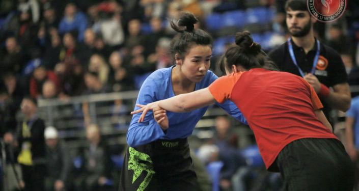 Участники чемпионата Кыргызстана по грэпплингу, который прошел в Бишкеке