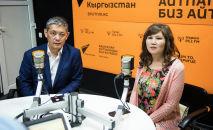 Гүлүм Касымова менен жолдошу Бактияр Мамбетказиев. Архив