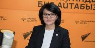Улуттук банктын расмий өкүлү Аида Карабаева. Архив