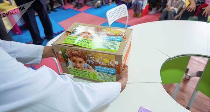 Мероприятие в детском отделении Национального центра онкологии и гематологии в Бишкеке