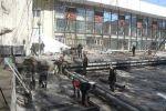 Борбор калаадагы Токтоболот Абдумомунов атындагы Кыргыз улуттук академиялык драма театры оңдоп-түзөөдөн өтүп жатат