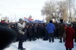 Митинг против строительства торгово-логистического центра в селе Ат-Баши