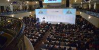 Председатель ежегодной Мюнхенской конференции по безопасности Вольфганг Ишингер выступает на открытии конференции.