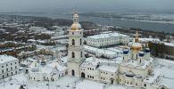 Тюмен облусундагы Тобол кремлине асмандан көрүнүш. Архивдик сүрөт