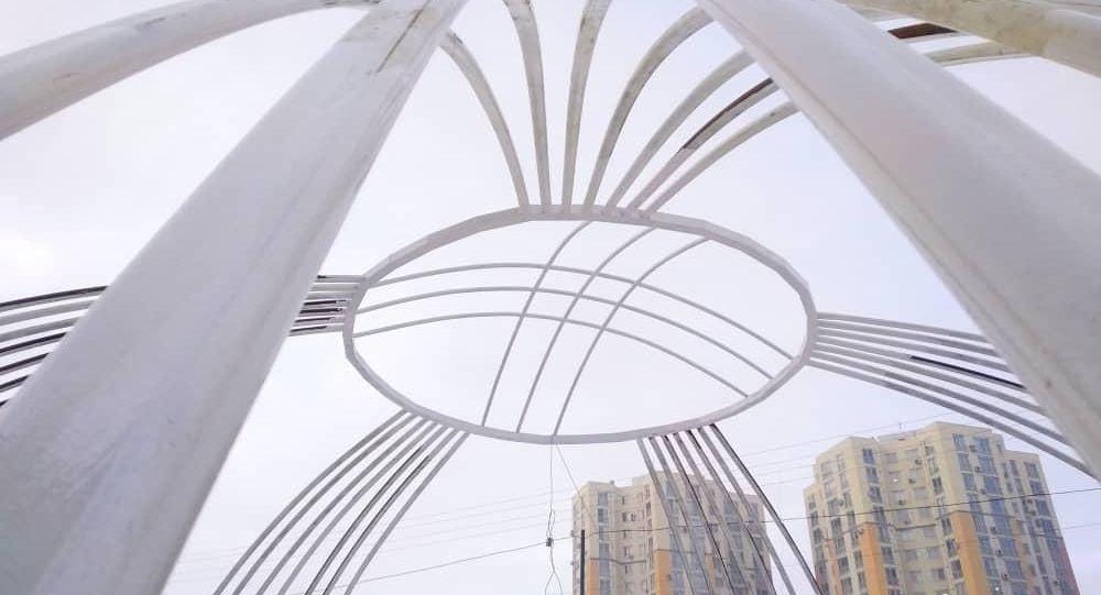 Бишкектеги Жал кичи районунда экзотикалык өсүмдүктөр тигилген сквер пайда болду.