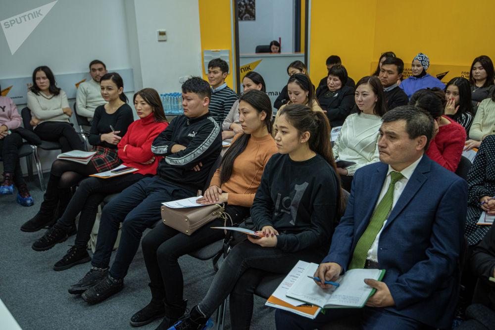 Мастер-класс посетили студенты старших курсов факультетов журналистики