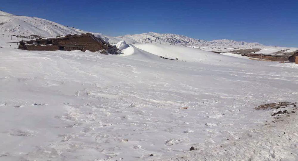 Жилые дома заваленные снегом в селе Каркыра в Тюпском районе Иссык-Кульской области