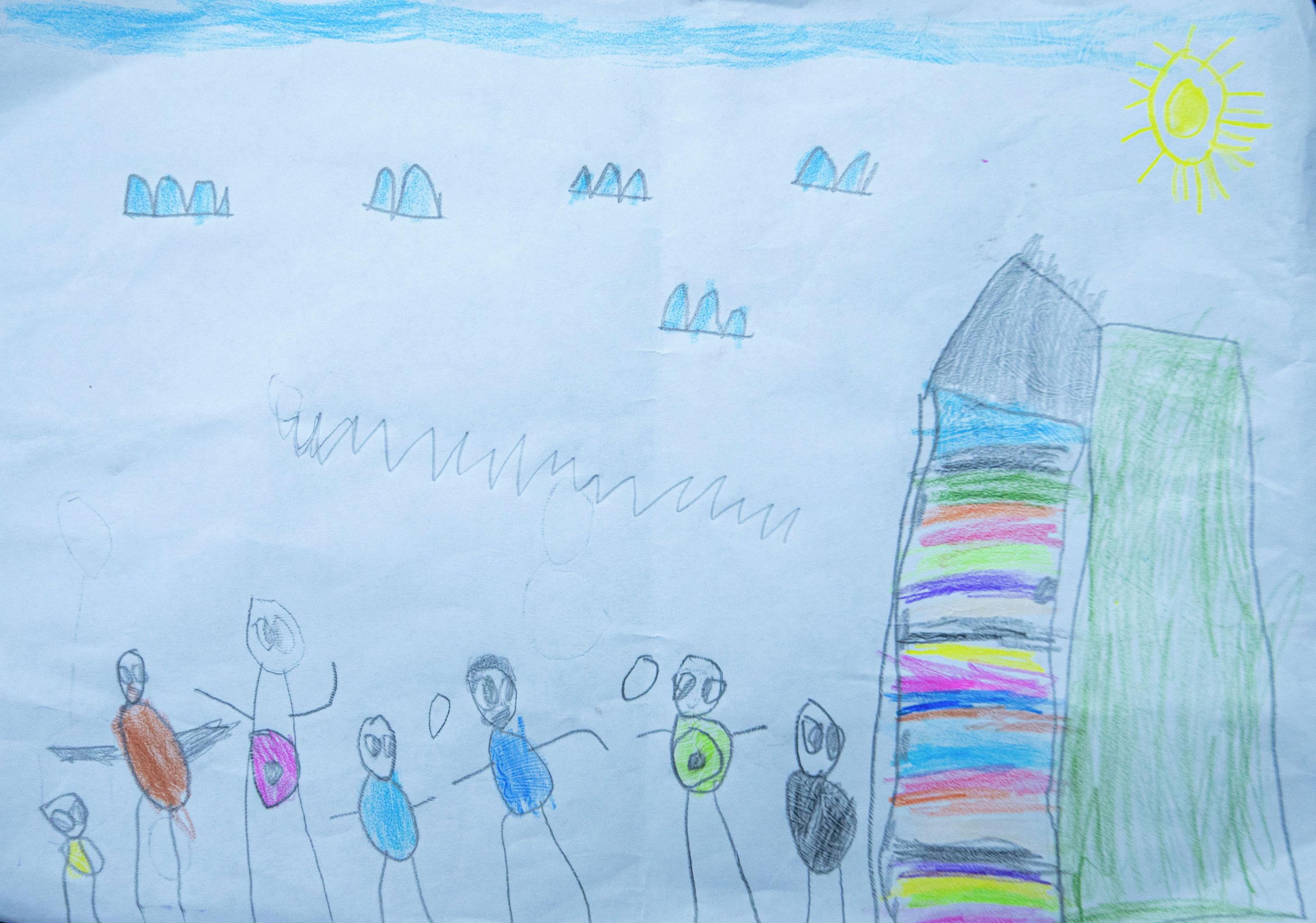 Рисунок четырехлетней девочки