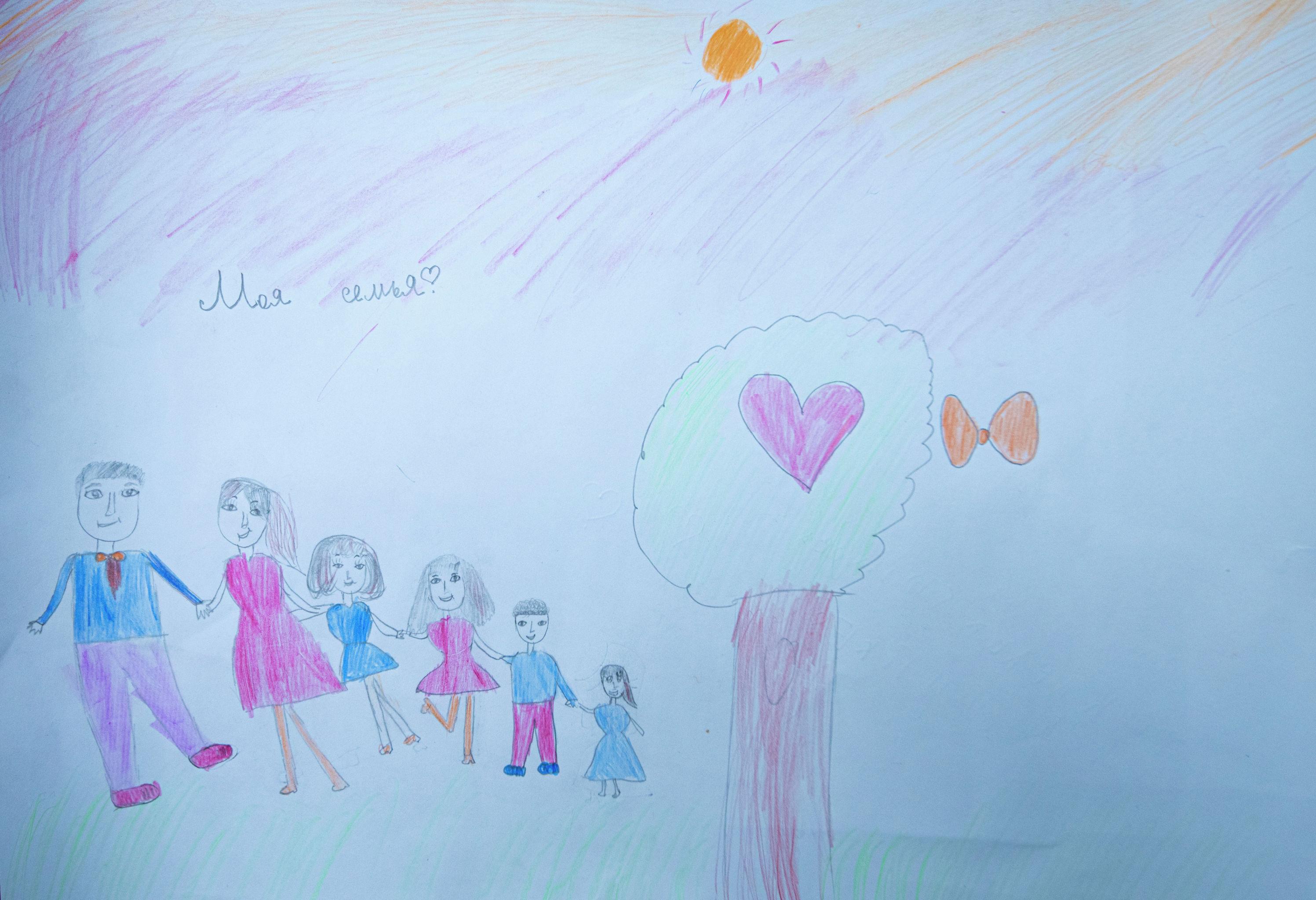 Рисунок девятилетнего мальчика